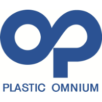 Graphic design logo for Plastic Omnium