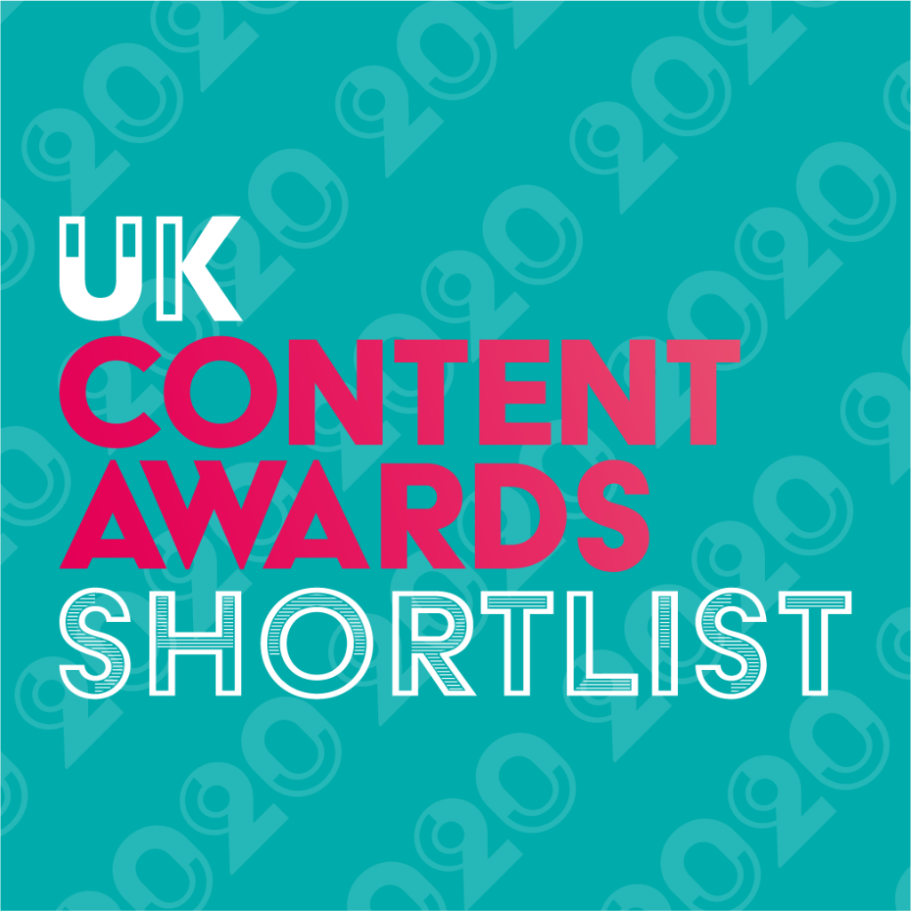 UK Content Awards 2020 Shortlist Badge