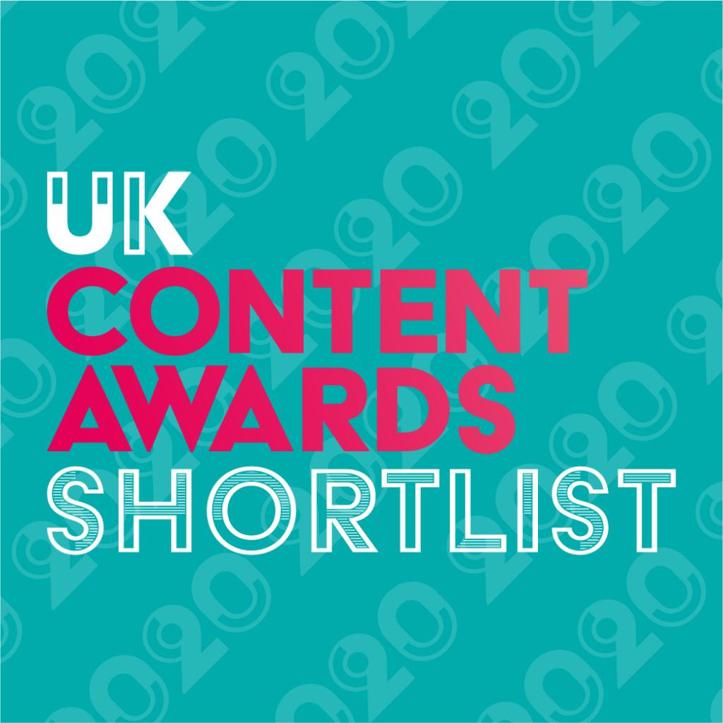 UK Content Awards 2020 Shortlist Badge