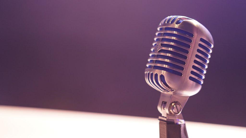 A closeup of a microphone